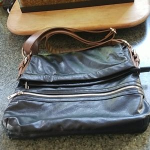 Braciano Black Leather Purse L